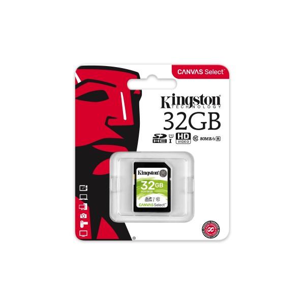 Carte mémoire Kingston Canvas Select Plus 32 Go - SDS2/32GB