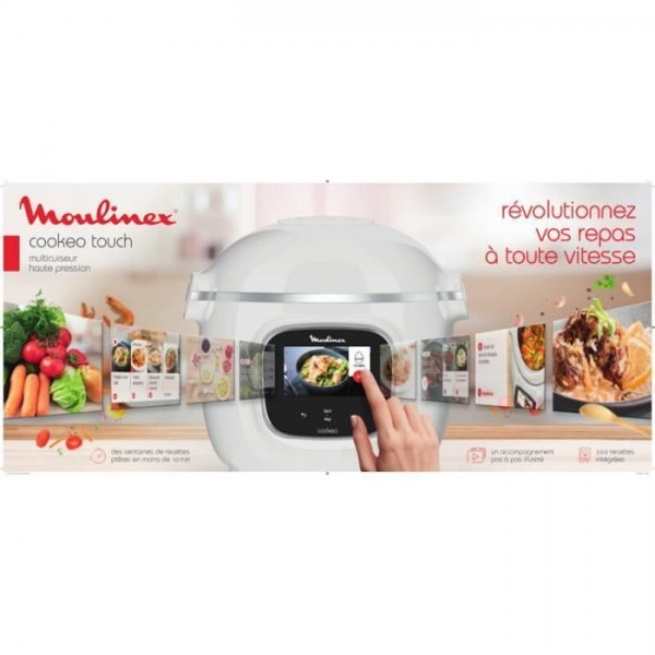 Multicuiseur Moulinex Cookeo Touch Blanc - CE901100